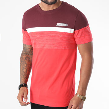 Jack And Jones - Tee Shirt Aiden Rouge Bordeaux