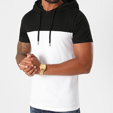 LBO - Tee Shirt Capuche Bicolore 1244 Noir Blanc