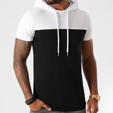 LBO - Tee Shirt Capuche Bicolore 1245 Blanc Noir
