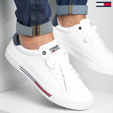 Tommy Jeans - Baskets Essential Leather 0488 White