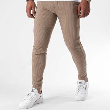 Frilivin - Pantalon A Rayures 1765 Marron