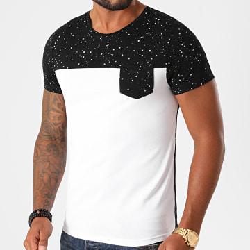 LBO - Tee Shirt Poche Speckle 1230 Noir Blanc