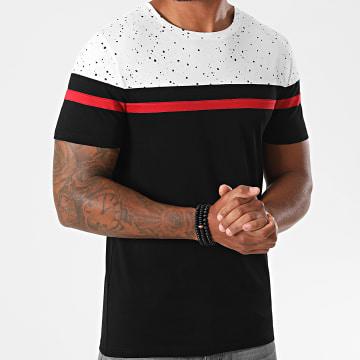 LBO - Tee Shirt Tricolore 1237 Speckle Rouge Noir