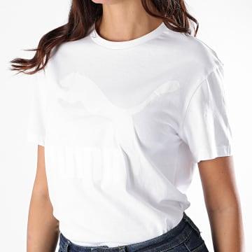 Puma - Tee Shirt Femme Classics Logo 597618 Blanc