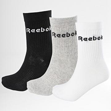 Reebok - Lot De 3 Paires De Chaussettes GC8669 Noir Blanc Gris