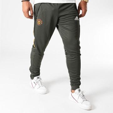 Adidas Performance - Pantalon Jogging A Bandes Manchester United FC FR3667 Vert Kaki