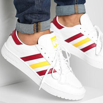 Adidas Originals - Team Court FW5066 Footwear White Collegiate Burgundy Wonder Glow