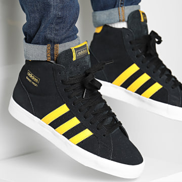 Adidas Originals - Baskets Montantes Profi FW3635 Core Black Gold Metal Footwear White