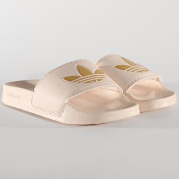 Adidas Originals - Claquettes Femme Adilette Lite FW0541 Beige Doré