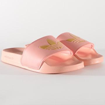 Adidas Originals - Claquettes Femme Adilette Lite FW0543 Rose Doré