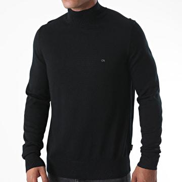 Calvin Klein - Pull Superior Wool Mock Neck 2736 Noir