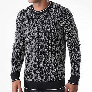 Calvin Klein - Pull All Over Jacquard Logo 5740 Noir