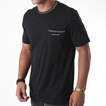 Calvin Klein - Tee Shirt Poche Ringer Pocket 5647 Noir