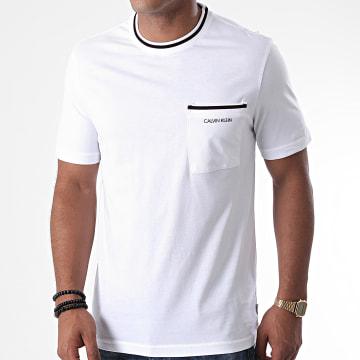 Calvin Klein - Tee Shirt Poche Ringer Pocket 5647 Blanc