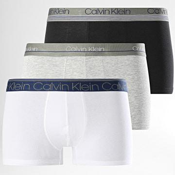 Calvin Klein - Lot De 3 Boxers NB2336A Blanc Noir Gris Chiné