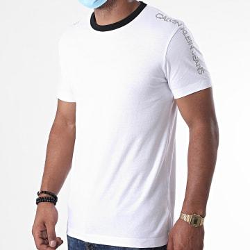 Calvin Klein - Tee Shirt Outline Logo Shoulder 6456 Blanc