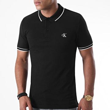 Calvin Klein - Polo Manches Courtes Slim Tipping 6559 Noir