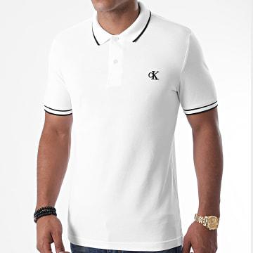 Calvin Klein - Polo Manches Courtes Slim Tipping 6559 Blanc