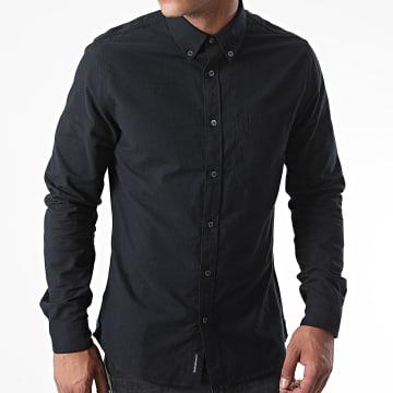 Calvin Klein - Chemise Manches Longues Oxford Solid 6697 Noir