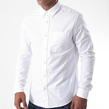 Calvin Klein - Chemise Manches Longues Oxford Solid 6697 Blanc