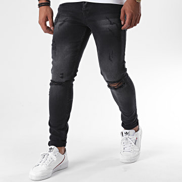 Classic Series - Jean Skinny Destroy DHZ-3203-1 Gris Anthracite