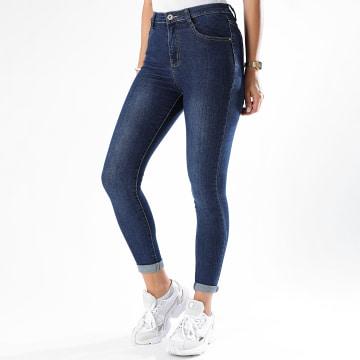 Girls Only - Jean Skinny Femme R590 Bleu Brut