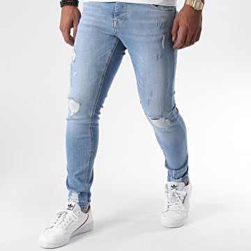 KZR - Jean Slim Destroy DNM2001 Bleu Denim