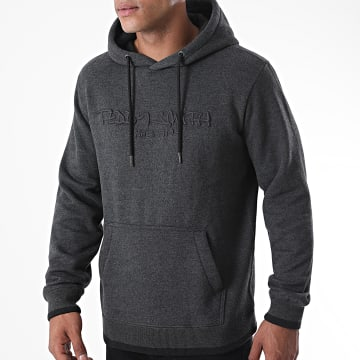 Teddy Smith - Sweat Capuche Class Gris Anthracite Chiné