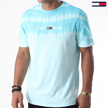 Tommy Jeans - Tee Shirt Tie And Dye 8334 Bleu Ciel