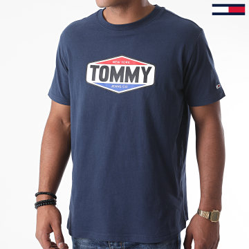 Tommy Jeans - Tee Shirt Printed Tommy Logo 8672 Bleu Marine