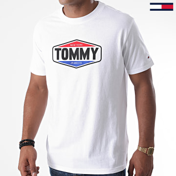 Tommy Jeans - Tee Shirt Printed Tommy Logo 8672 Blanc