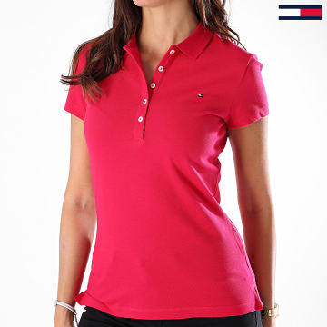 Tommy Hilfiger - Polo Manches Courtes Femme Short Sleeve Slim 7947 Fushia
