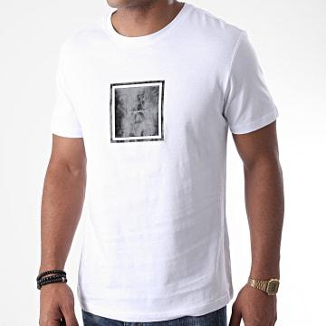 Antony Morato - Tee Shirt Orange Line MMKS01831 Blanc