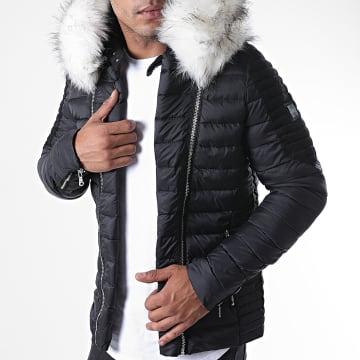 Comme Des Loups - Doudoune Fourrure F1864 Noir Blanc