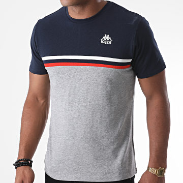 Kappa - Tee Shirt Ibis 3115HGW Gris Chiné Bleu Marine