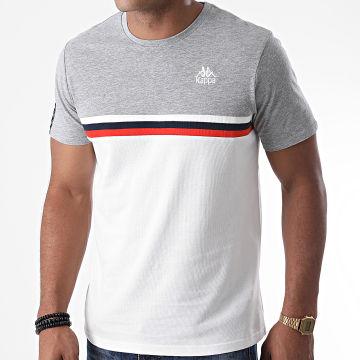 Kappa - Tee Shirt Ibis 3115HGW Blanc Gris Chiné