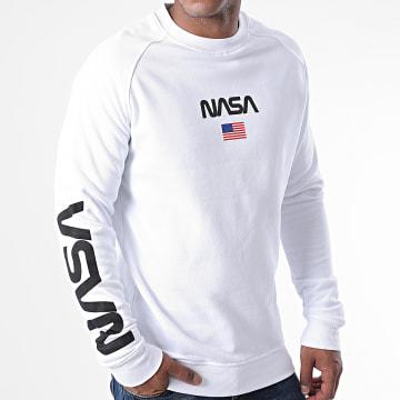 Mister Tee - Sweat Crewneck NASA MT970 Blanc