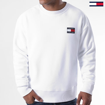 Tommy Jeans - Sweat Crewneck Polar Fleece Badge 8728 Blanc