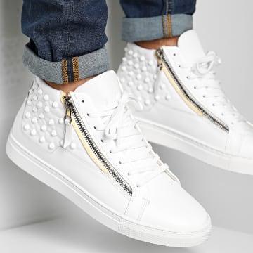BB Salazar - Baskets XRXS Zippered Leather White