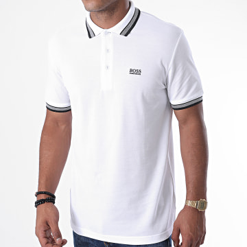 BOSS - Polo Manches Courtes Paddy 50398302 Blanc