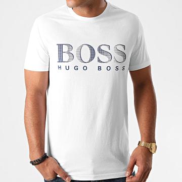 BOSS - Tee Shirt 50407774 Blanc Bleu Marine