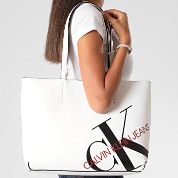 Calvin Klein - Sac A Main Femme Shopper 29 6859 Blanc