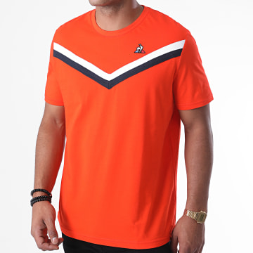 Le Coq Sportif - Tee Shirt Tricolore N6 2011340 Orange