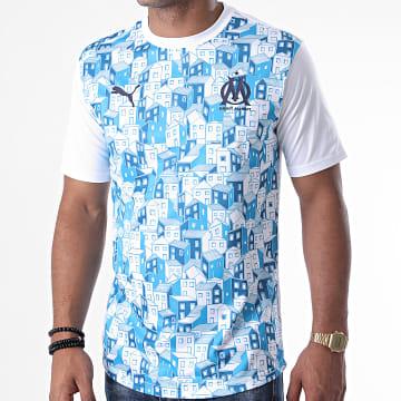 Puma - Tee Shirt OM Stadium Jersey 758119 Blanc Bleu