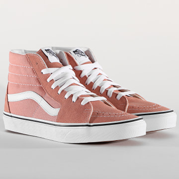 Vans - Baskets Montantes Femme Sk8-Hi Rose Dawn True White