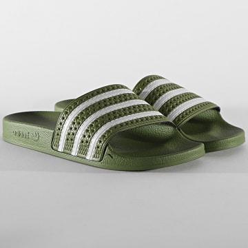 Adidas Originals - Claquettes Adilette FU9891 Foreign Green Supplier Colour