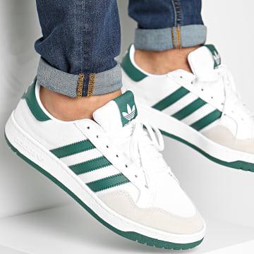 Adidas Originals - Baskets Team Court FX8481 Footwear White Collegiate Green