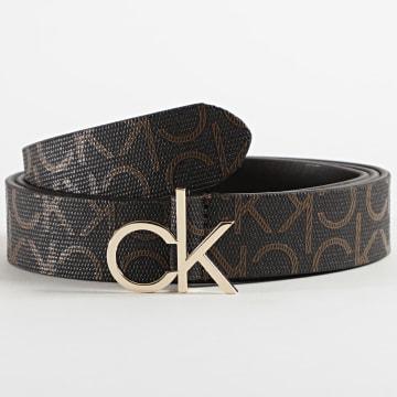 Calvin Klein - Ceinture Femme Fixed Buckle Belt 7334 Noir Doré