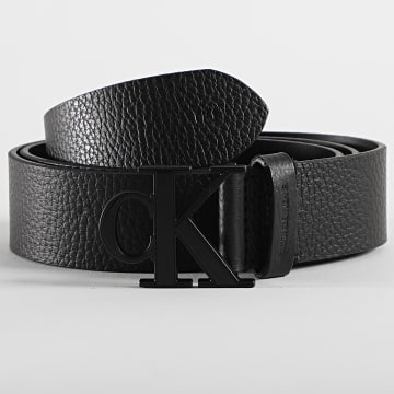 Calvin Klein - Ceinture Logo Text Leather 6434 Noir