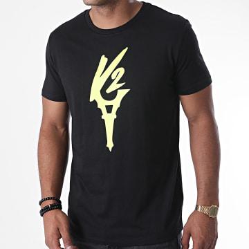 Da Uzi - Tee Shirt Logo Noir Jaune Fluo